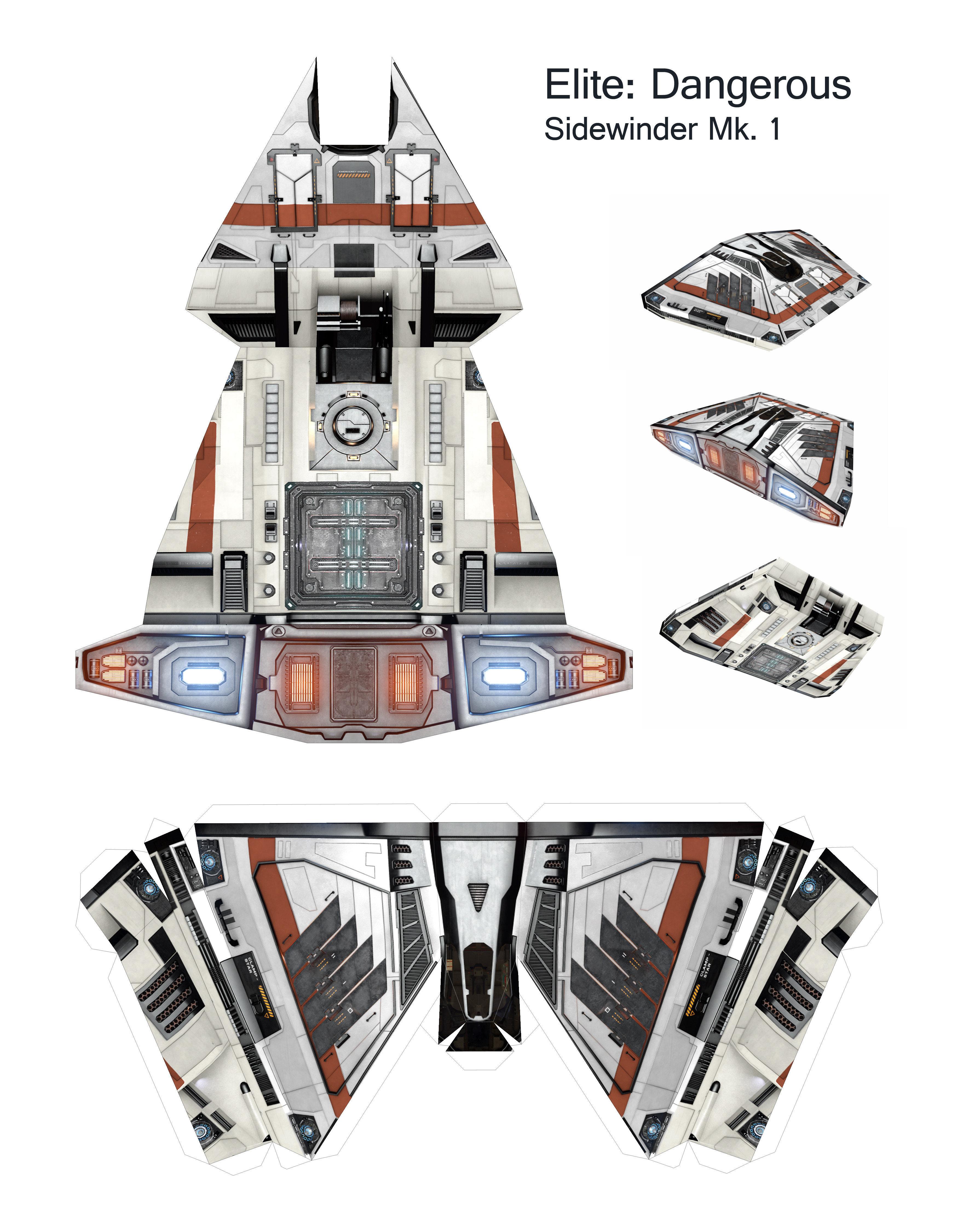 Макеты из бумаги космические корабли